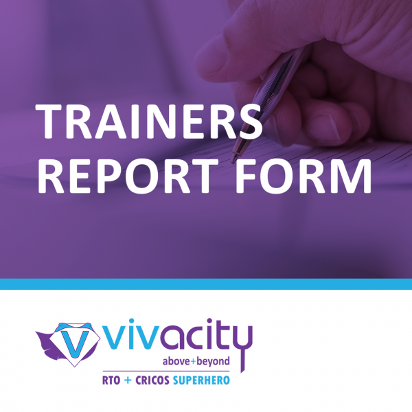 Trainers Report Form